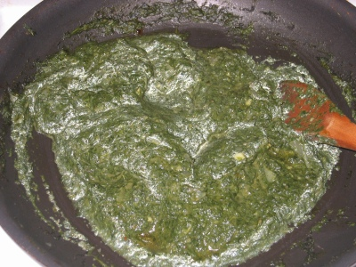 Palak Paneer in the buff